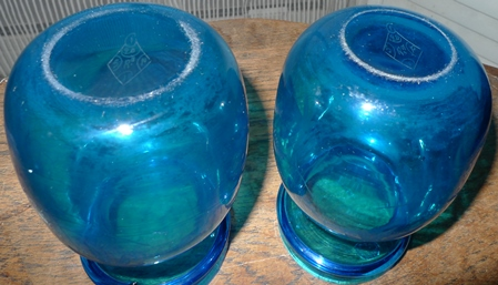 diamond regisration mark base Stevens and Williams princess hyacinth vase