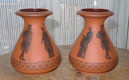 terracotta hyacinth vases
