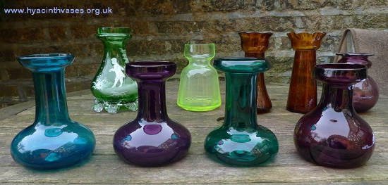 antique hyacinth vases